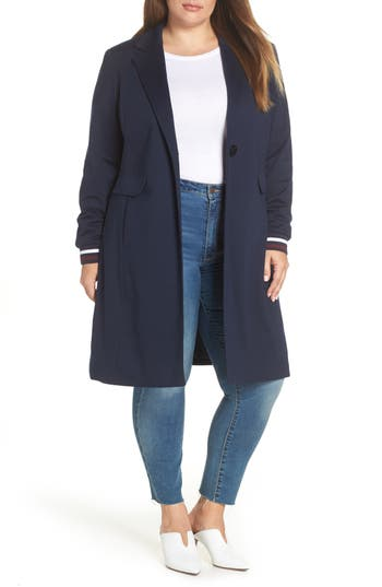 Halogen® Rib Trim Ponte Jacket