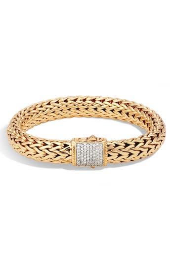 John Hardy Classic Chain 18K & Pavé Diamond Large Bracelet