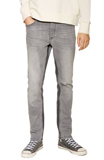 Topman Slim Fit Panel Jeans