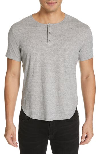 John Varvatos Short Sleeve Cotton Henley
