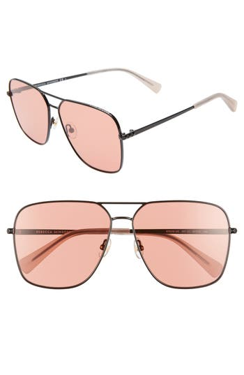 Rebecca Minkoff Stevie3 61mm Aviator Sunglasses
