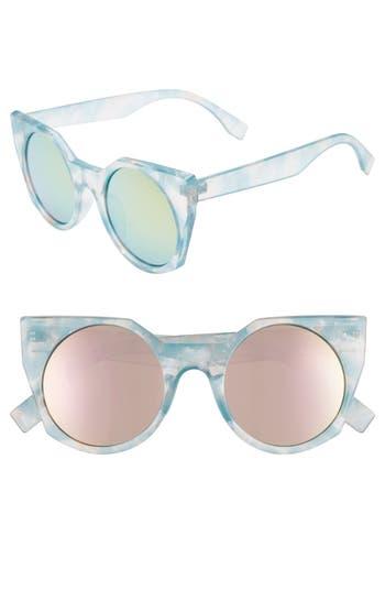 Glance Eyewear 49mm Mirrored Round Sunglasses