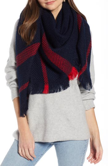 Something Navy Quad Scarf