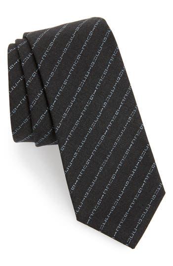 Gucci Cyborg Logo Wool Tie