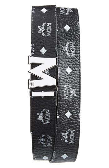 MCM Visetos Faux Leather Belt