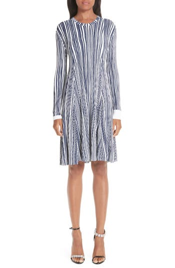 CALVIN KLEIN 205W39NYC Stripe Rib Knit Dress