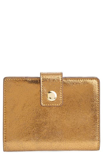 J.Crew Metallic Leather Passport Case