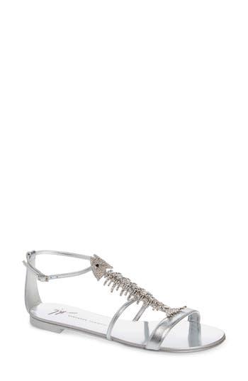 Giuseppe Zanotti Embellished Fish Skeleton Sandal
