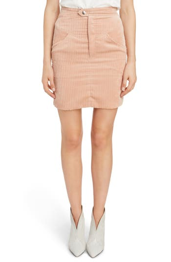 Isabel Marant High Waist Corduroy Skirt