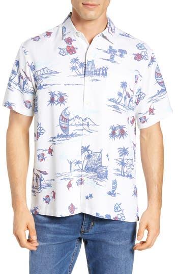 Kahala Past Times Classic Fit Print Sport Shirt