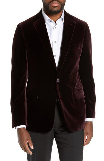Hickey Freeman Classic Fit B Velvet Blazer