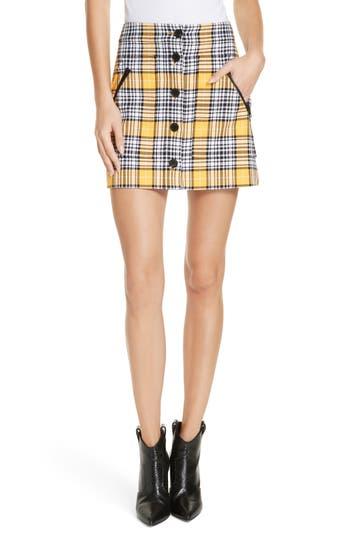 Veronica Beard Monroe Plaid Miniskirt