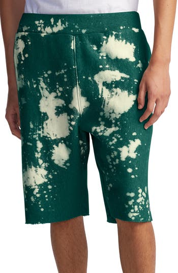Champion Bleach Splatter Crewneck Athletic Shorts