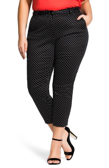 City Chic Desire Polka Dot Pants
