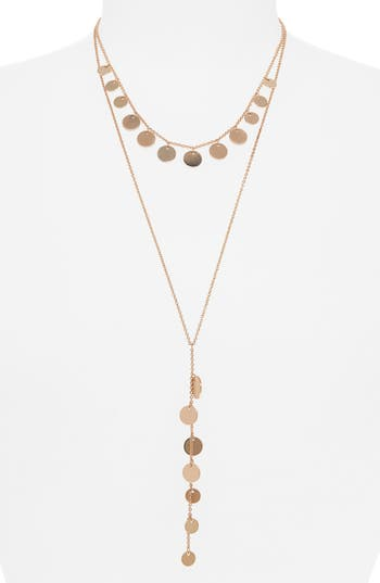 Panacea Disc Layered Y-Necklace