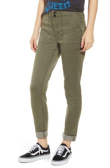 Tinsel Cuffed Sateen Skinny Pants