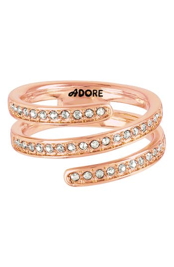 ADORE Pavé Crystal Coil Ring