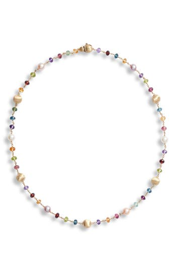 Marco Bicego Africa Semiprecious Stone & Pearl Necklace