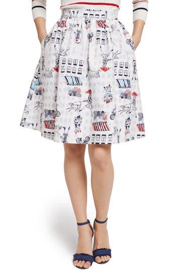 ModCloth Print Full Skirt