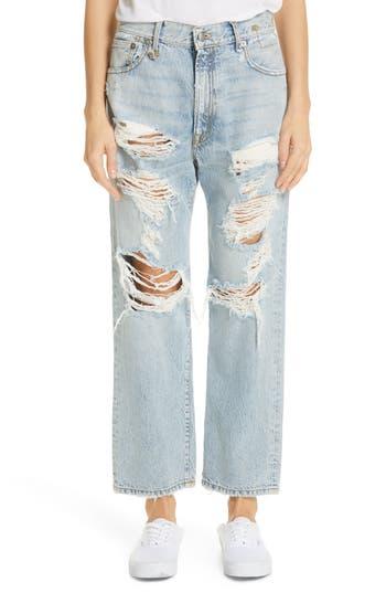 R13 Ripped Boyfriend Jeans