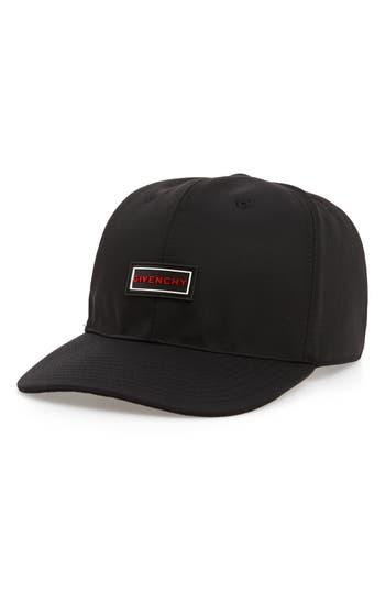 Givenchy Curved Peak Rubber Logo Cap