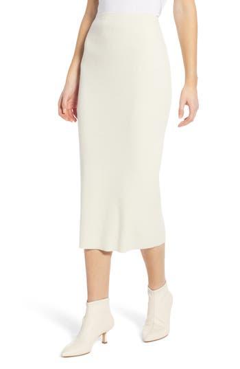 Something Navy Rib Sweater Midi Skirt