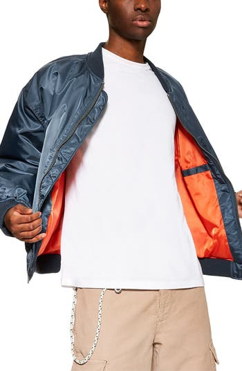 Topman Oversize Bomber Jacket