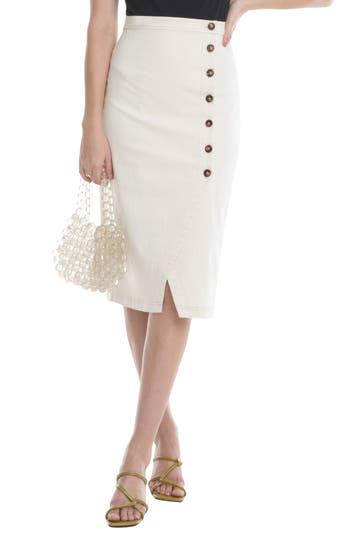 ASTR the Label Eileen Button Front Skirt