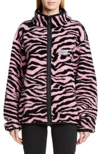 Ashley Williams Juju Tiger Print Fleece Jacket