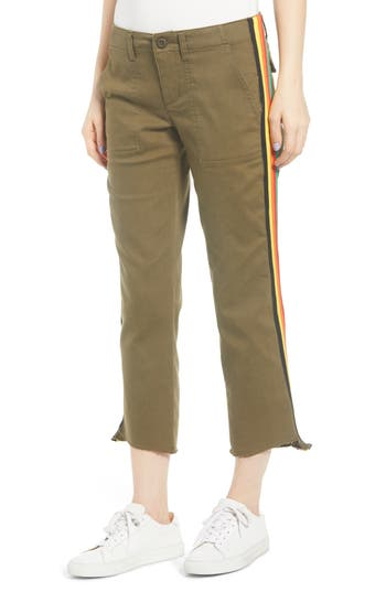Pam & Gela Rainbow Side Stripe Stretch Twill Pants