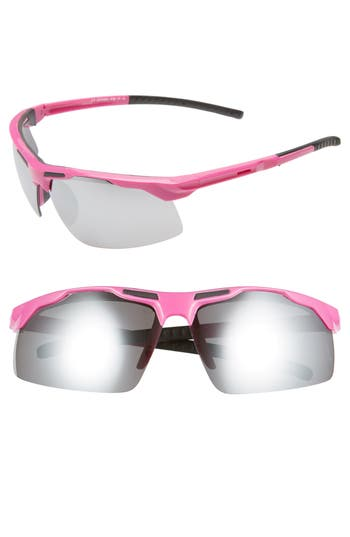 Glance Eyewear 65mm Mirrored Sport Sunglasses