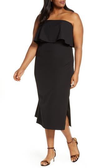 ELOQUII Strapless Party Dress (Plus Size)