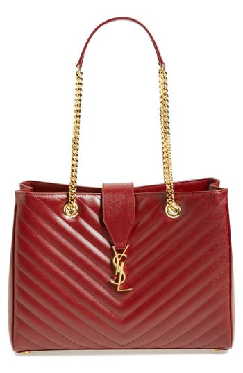 Saint Laurent 'Monogram' Grained Leather Shopper