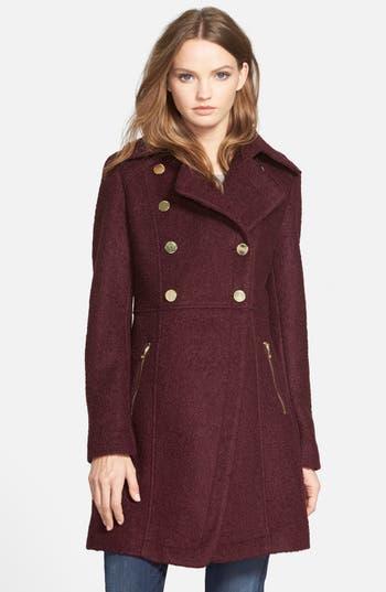 Women's Guess Double Breasted Bouclé Cutaway Coat