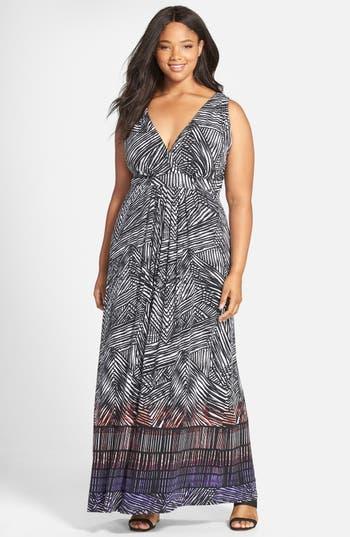 plus size women's tart chloe empire waist maxi dress, size 4x - black