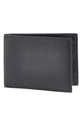 Bosca Small Bifold Wallet - Black
