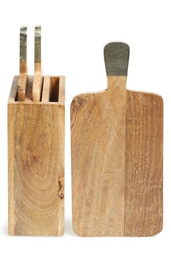 Thirstystone 'Urban Farm' Mango Wood Serving Boards & Holder