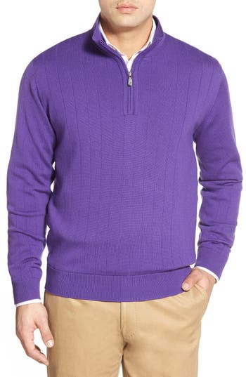 Bobby Jones Windproof Merino Wool Quarter Zip Sweater