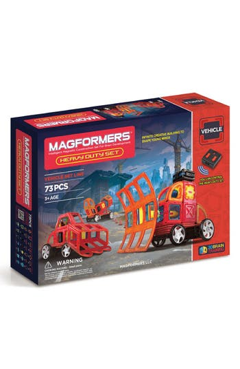 Boys Magformers Heavy Duty Magnetic Remote Control Vehicle Construction Set