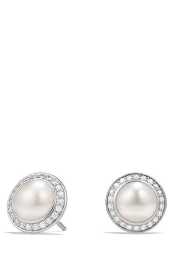 Women's David Yurman 'Cerise' Petite Earrings With Pearls And Diamonds