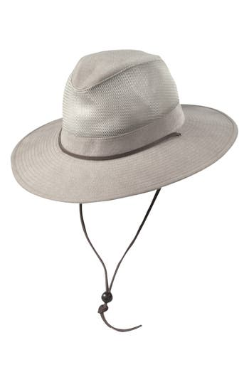 DORFMAN PACIFIC | Men's Dorfman Pacific Brushed Twill Safari Hat - Brown | Goxip