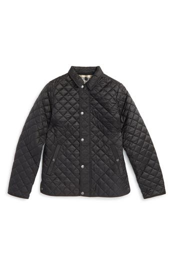 Boys Burberry Quilted Jacket Size 10Y  Black