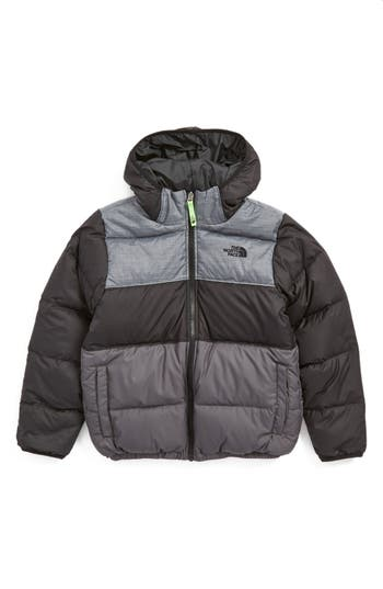 Boy's The North Face 'Moondoggy' Water Repellent Reversible Down Jacket