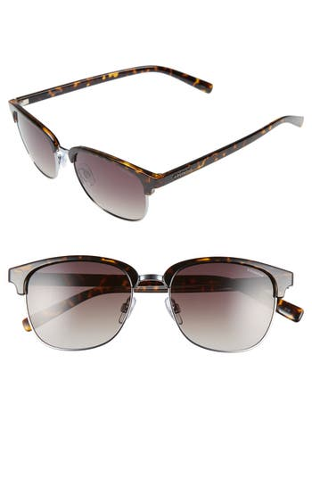 Polaroid Eyewear 55Mm Polarized Sunglasses - Ruthenium/ Brown Polarized