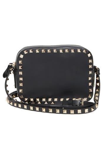 Valentino Garavani 'Rockstud' Calfskin Leather Camera Crossbody Bag -
