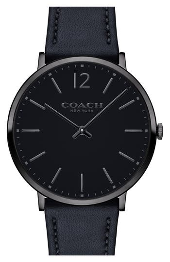Coach Easton Leather Strap Watch, 40Mm