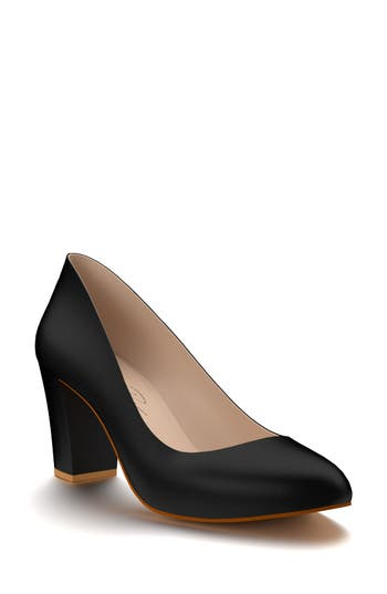 Shoes Of Prey Block Heel Pump - Black