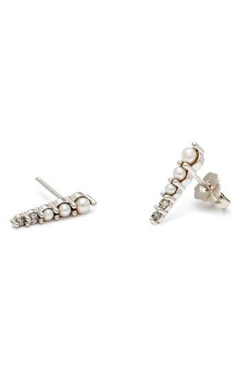 Women's Anna Sheffield 'Pavé Pointe - Medium' Diamond & Seed Pearl Stud Earrings