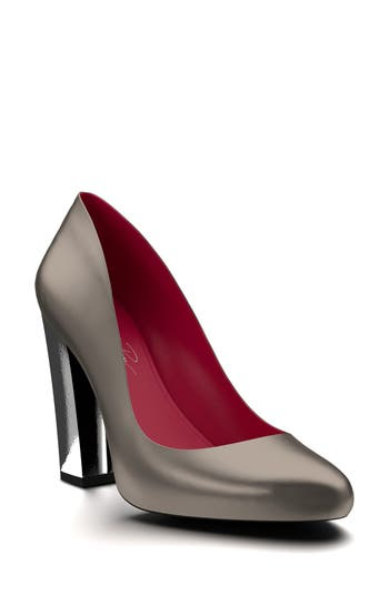 Shoes Of Prey Round Toe Pump - Metallic