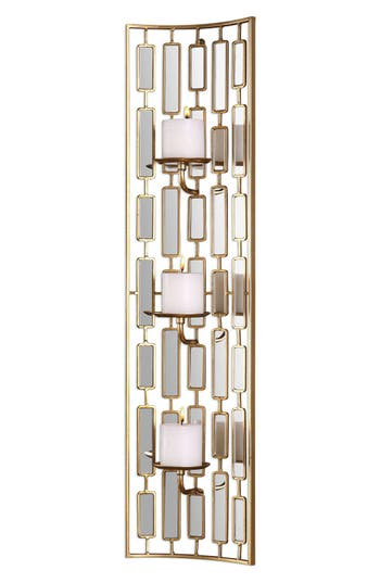 Uttermost Mirrored Candleholder Wall Sconce